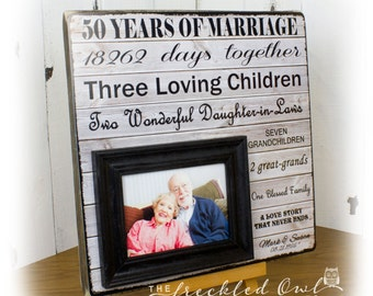 50th anniversary gift golden anniversary fifty years of marriage frame grandparent gifts