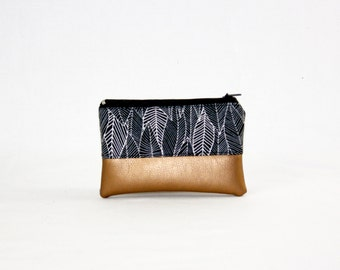 Mini bag - copper of leaves