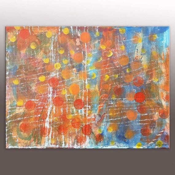 Bathroom Art Abstract Canvas Art Large Oil Painting