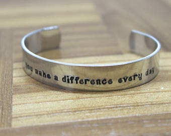 Teacher Gift / Teacher Appreciation / You Make a Difference Every Day / Daycare Gift