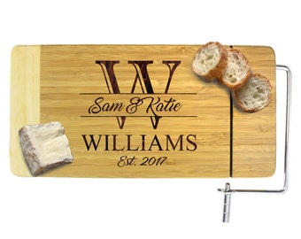 Engraved Bamboo Cheese Board, Cheese Board Personalized, Cheese Knife Set, Engraved Cheese, Housewarming Gift, Anniversary Gift, Home Gift