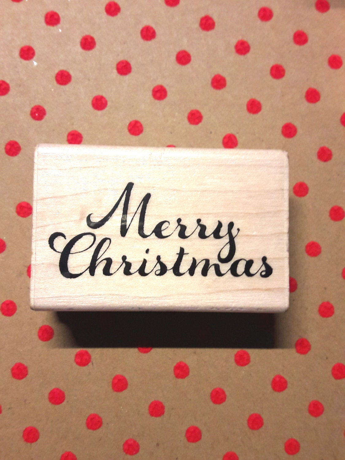 Rubber stamp craft supplies - Merry Christmas Holiday Wood Mounted Rubber Stamp Craft Supplies