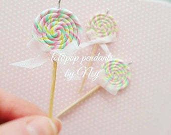 lollipop miniature food jewelry necklace