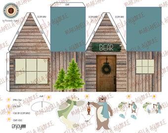 Bear house. DIGITAL PAPER HOUSE