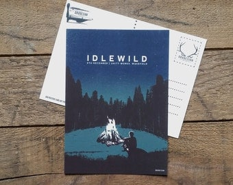 Idlewild Postcard Gig Poster Mini Print by Or8 Design