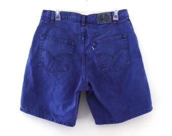 Vintage 90s Levis jean shorts mens blue silvertab