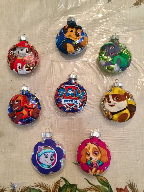 Handmade Paw Patrol Christmas Ornaments! Your choice of character!