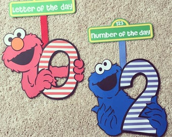 Set of Sesame Street Signs