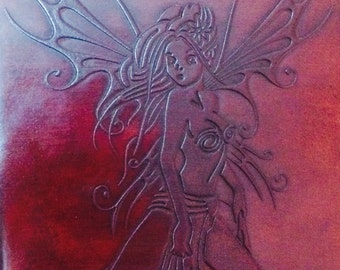 Lilith Fairy, Handmade Leather journal,guestbook,sketchbook