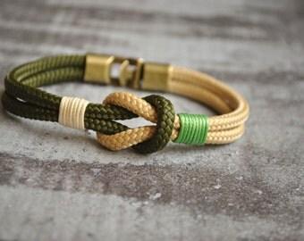Sailor knot Nautical bracelet | mens bracelet | ivory beige paracord bracelet | sailor bracelet | nautische armband | pulsera hombre