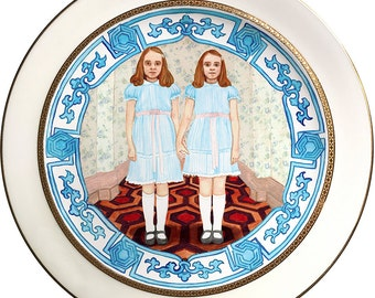 The Shining Twins - Vintage Porcelain Plate - #0468