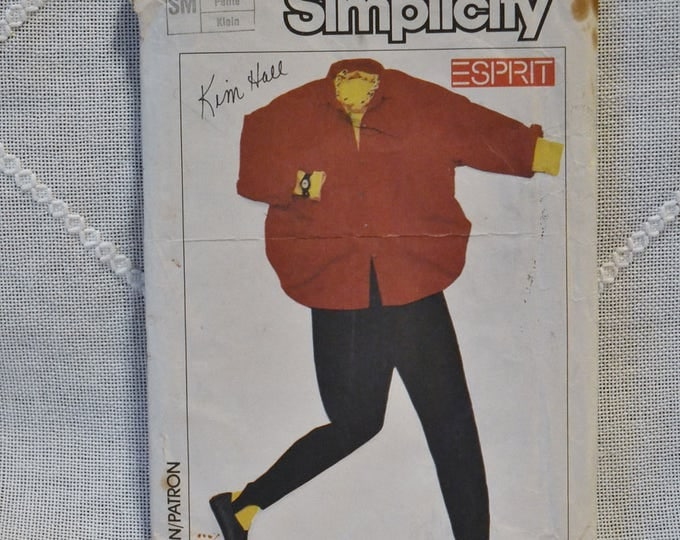 Vintage Simplicity 6974 Sewing Pattern Crafts Misses Shirt Stirrup Pants Size Small DIY Sewing Crafts PanchosPorch