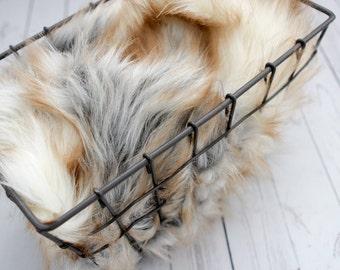 Faux Fur 18x20 Safari Collection Photography Backdrop, Newborn Photo Prop, Faux Fur Fabric, Basket Filler, Layering Blanket Craft Fur Prop