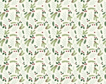 Comfort and Joy - Floral Cream by Design by Dani for Riley Blake Designs, 1/2 yard, C6266-Cream