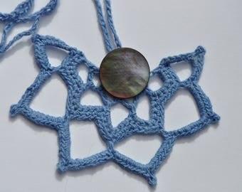 Blue Crochet Necklace