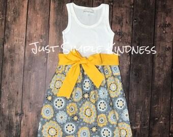 Girls Dresses, Girls Easter Dress, Girls Spring Dress, Girls Summer Dress, baby girl floral, Girls Handmade Dress, baby girl dresses