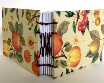 Peaches and Pears Custom Notebook / gardening gifts / handmade Sketchbook / note keeping / personal journal // vintage book // book binding