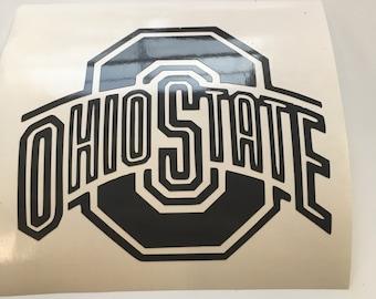 Ohio State decal, Ohio State Car decal, Buckeyes, Buckeyes car decals, Bucks, OSU