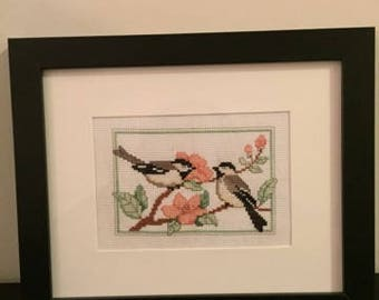 Love Birds (Completed Cross Stitch)