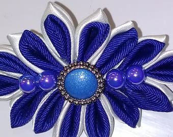 Kanzashi flower barrette