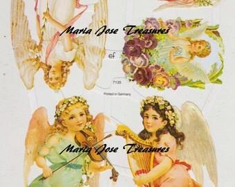 "Vintage Scraps, Cromos ""Angels"" - Digital Download"