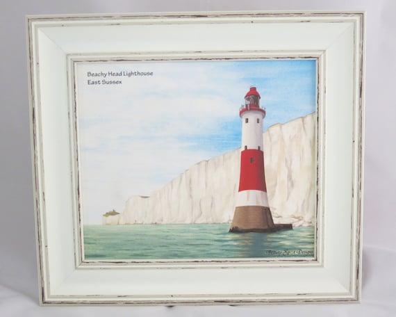 Beachy Head Lighthouse framed foam backed print