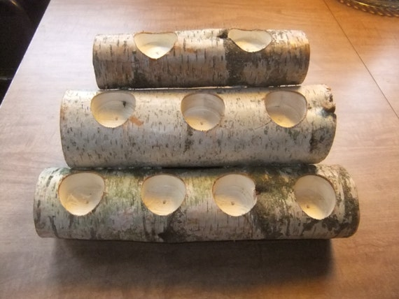 Up for sale is a White Birch Crafted in the form of a stack of firewood
