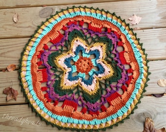 Starflower Mandala doily