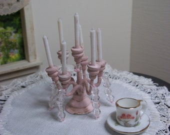 Dolls House Miniature Six Arm Candelabra
