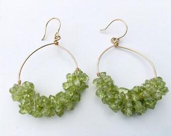 Peridot Hoop Earrings