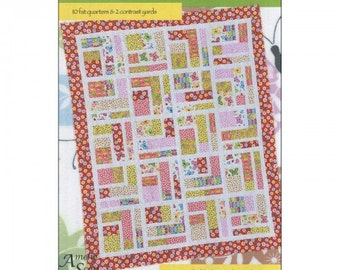 Bundle of 10 Pattern, you only need 10 fat quarters and 2 contrast yards, 4 yards for backing