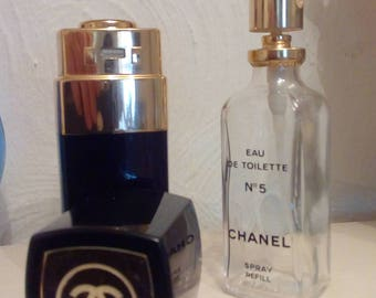 Chanel no 5 vintage black and gold case and bottle edit 50ml
