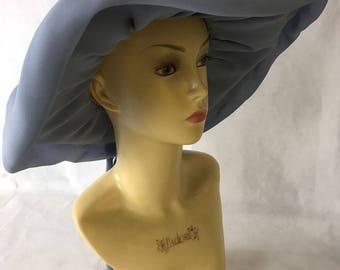 Light Blue Floppy Large Brim Hat by Mitzi Boutique 1970