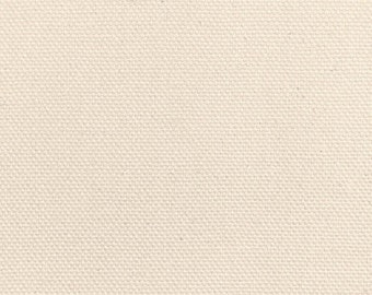 """Pure Cream Duck Cloth 60"""" Wide By The Yard 9.3 oz"""