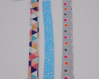 Multi Colored Girl Pacifier Clips(Set of 3)