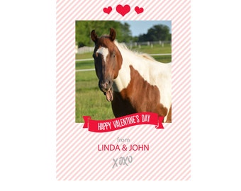 Valentines Day Card template - - add your own photo or use ours