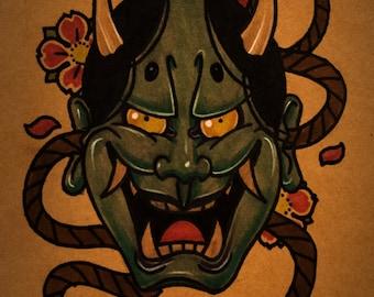 Hannya Mask By thebrokenpuppet