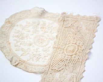 Antique Lace, Doily and Strip