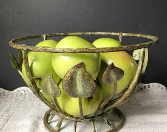 Wrought Iron Fruit Centerpiece Bowl