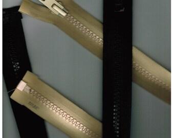23 Inch Coat Zipper, Tan or Black