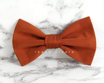Burnt orange Bow Tie Men Adult Groomsmen Matching Bowtie with TDY Infinity Dress