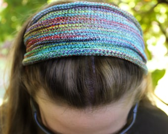 REGULAR Width Rainbow Yoga Knit Headband, Rainbow Headband, Hippie Headband, Winter Headband, Yoga Accessories, Rainbow Scarf, Rainbow Man