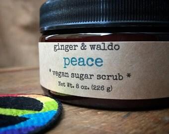 Peace Vegan Sugar Scrub - Nag Champa - Peace Scrub - Nag Champa Scrub - Vegan Scrub - Sugar Scrub - Body Polish - Karma Collection