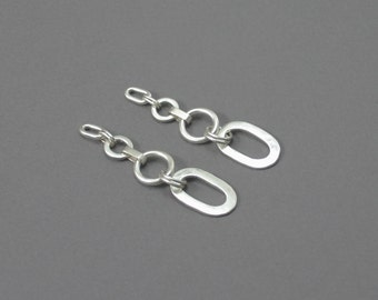 Mixed Chain Post Earrings
