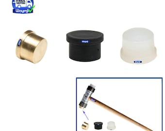 """Nylon, Brass & Fiber Hammer 1/2"""" diameter face insert Mallet replacement set of 3 Pcs Wa 302-033-04"""