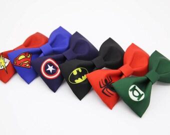 Handmade Super Hero Heroes bow tie