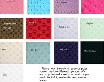 "Minky Dot Fabric (1 yard-60"" wide) minky fabric"