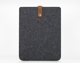 Felt iPad Case, iPad Retina Cover, Felt iPad Sleeve, iPad Retina Case, Leather iPad Sleeve - Apple iPad Cover iPad Retina
