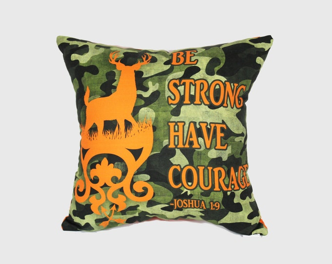 Camo Deer Style Throw Pillow