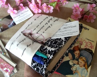 Jane Austen quote Book Sleeve Beautiful Book Cover with Pride and Prejudice Quote Gift for Book Lover